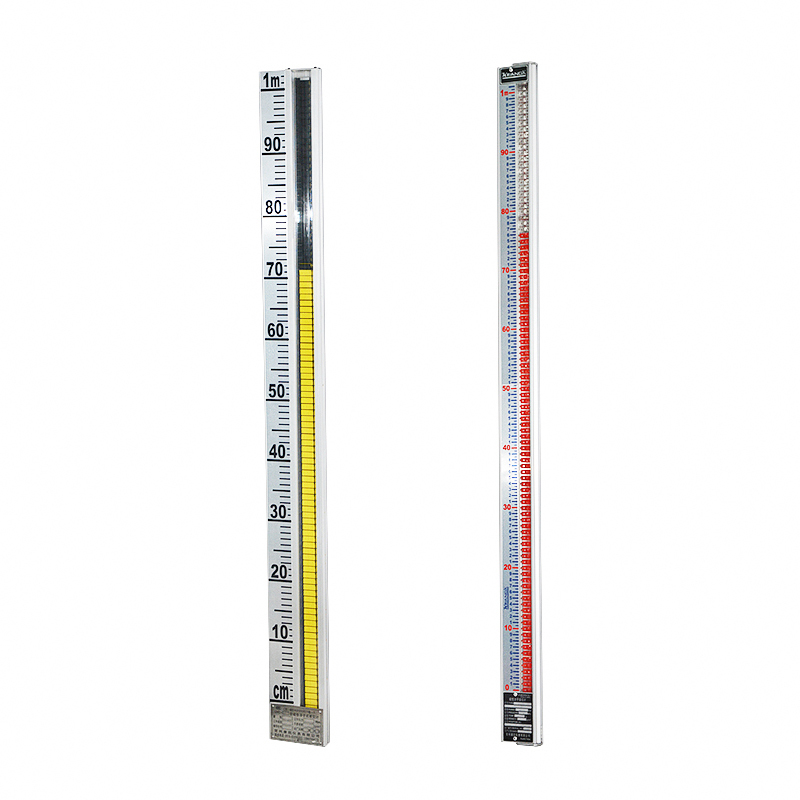 Level scale plate indication panel for magnetic level gauge