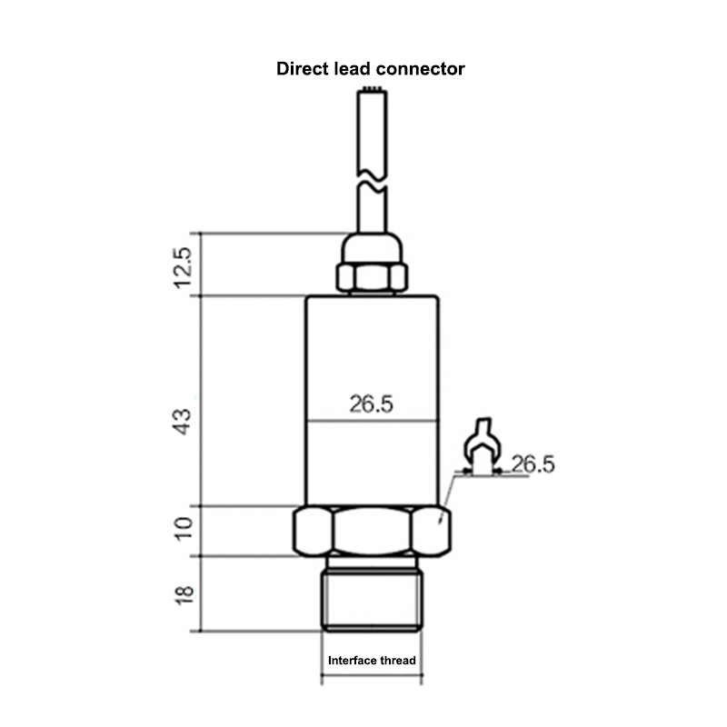 Aviation plug pressure transmitter