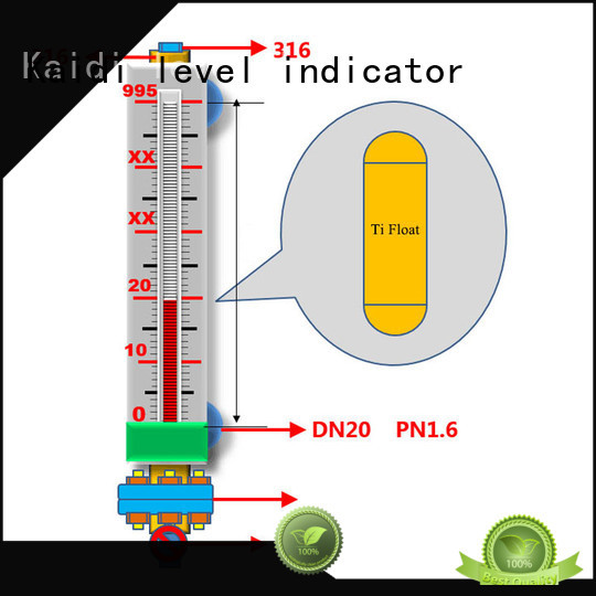 KAIDI new magnetic level gauge price company for industrial